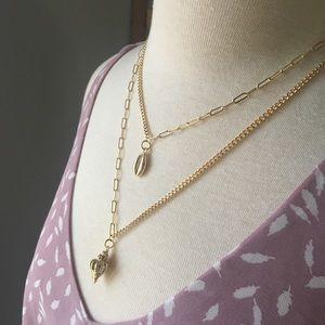 Jewelry - Sandy Seashell Layered gold necklace